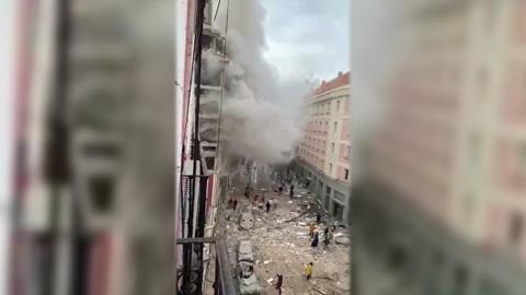"""Новости на """"России 24"""". Пострадавший от взрыва дом в Мадриде собираются разрушить"""