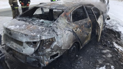 ЧП. Три человека заживо сгорели после ДТП под Орском
