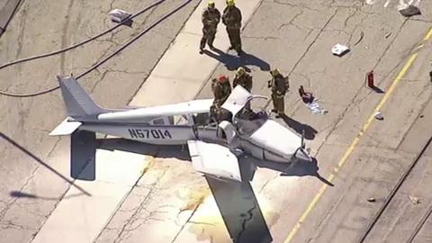 В США разбился тренировочный самолет ВВС