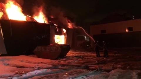 На складе Внуковского завода огнеупорных изделий произошел пожар
