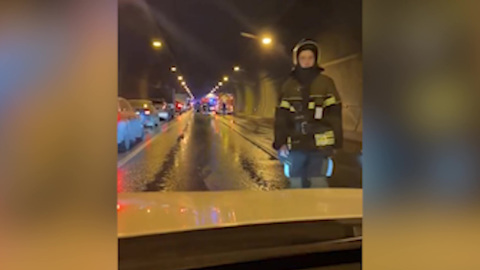 Видео из Сети. Движение по ТТК в районе Лефортовского тоннеля восстановлено