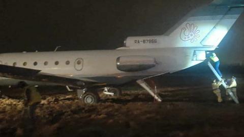 В Пулково произошел инцидент с выкатыванием самолета за пределы ВПП