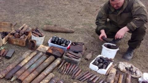"""На тербунском полигоне уничтожили 200 снарядов с высоты """"Огурец"""""""