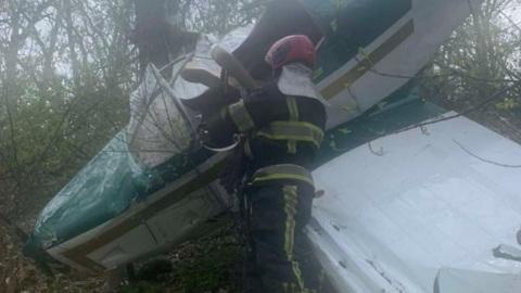 Самолет разбился вскоре после взлета с аэродрома