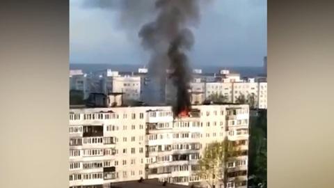 Две женщины в Подмосковье спрыгнули с девятого этажа, спасаясь от огня