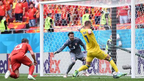 Футболисты Украины одолели Северную Македонию