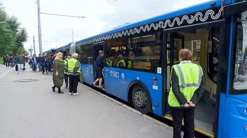 200 бесплатных автобусов пустят на закрытом участке Сокольнической линии