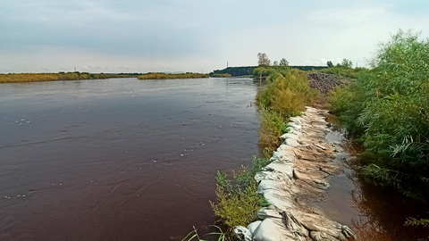 Томь может затопить более 200 дачных участков в Белогорске
