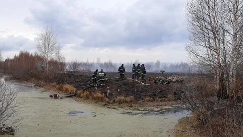 Под Екатеринбургом продолжается тушение торфяников