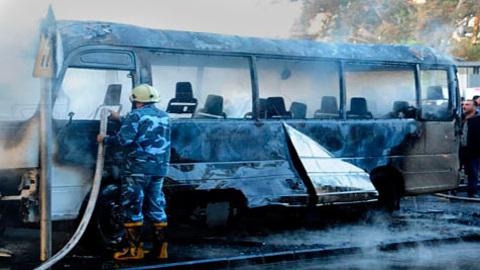 Теракт в центре Дамаска: погибли не менее 14 военных