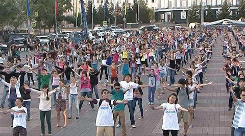 Россия 10. Молодежный флешмоб в поддержку Байкала