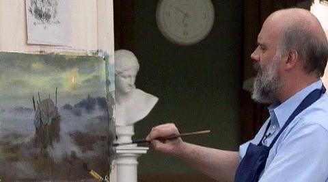 """Уроки рисования с Сергеем Андриякой. """"Сельский пейзаж в тумане"""""""
