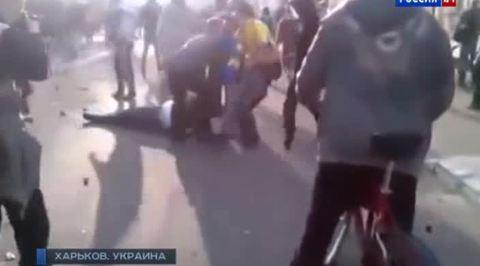 В Харькове футбольные фанаты подрались со сторонниками федерализации