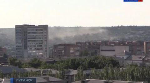 Артиллерия массированно обстреливает Луганск