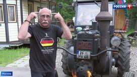 """""""Вести-Москва"""": болельщику, приехавшему из Германии на тракторе, подарили билет на матч"""
