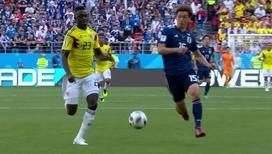 11 японцев обыграли 10 колумбийцев