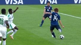 Такаси Инуи блестящим ударом сравнивает счет
