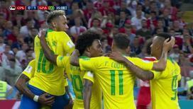 Команда Бразилии выходит вперед