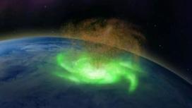 На границе атмосферы и космоса образовался огромный вихрь плазмы.