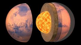 Так выглядит внутрення структура Марса по мнению художника.