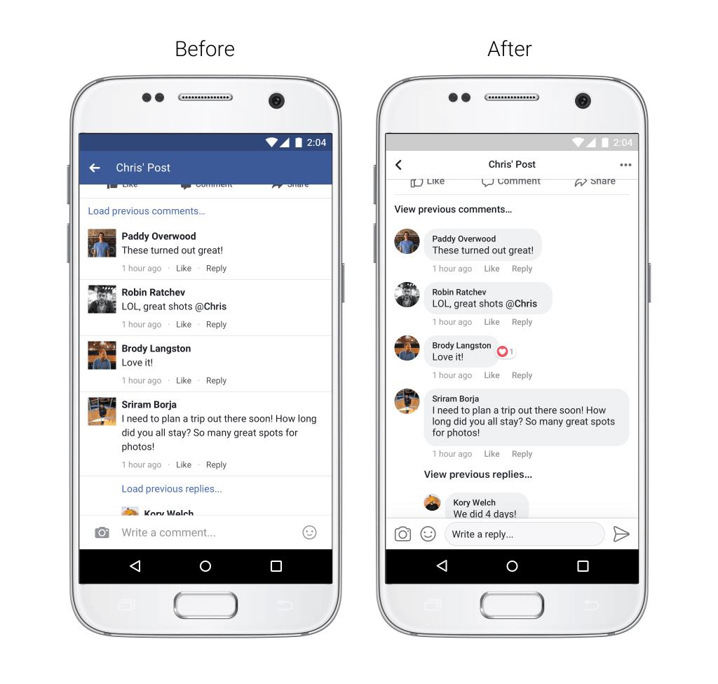 Инстаграм  для iPhone и андроид  получил обновленные комментарии