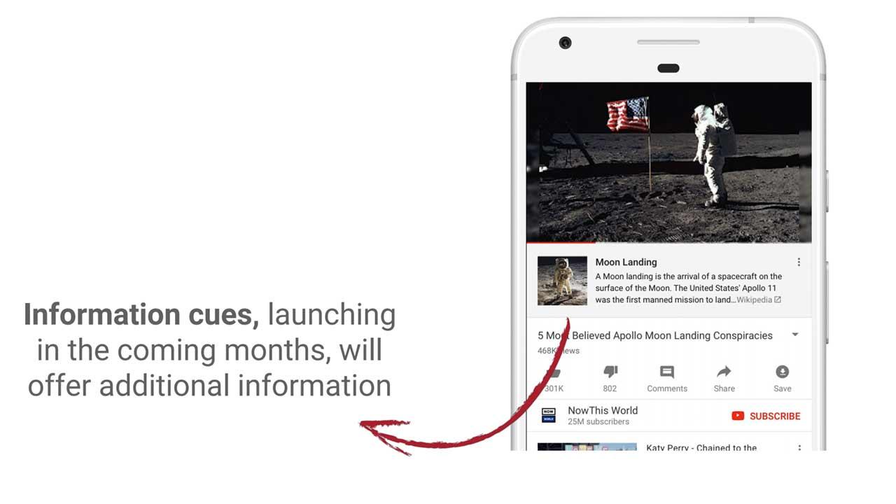 YouTube добавит информацию из Википедии к видеороликам о «теориях заговоров»