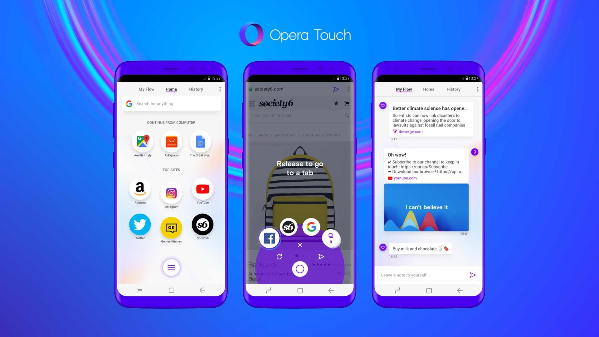 Opera представила новый мобильный браузер Opera Touch
