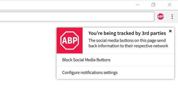 Adblock Plus помешает соцсетям отслеживать пользователей