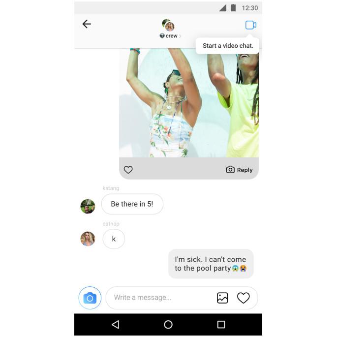 В социальная сеть Instagram появится функция видеозвонка