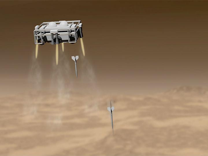 Орбитальный зонд обстреляет Марс аппаратами-стрелами
