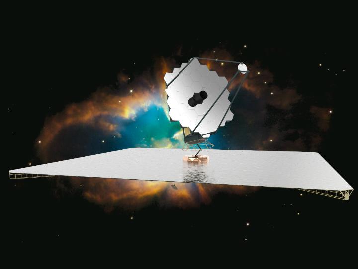 Художественное изображение возможного дизайна обсерватории ATLAST