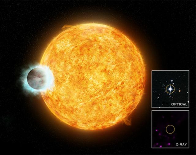 Никакого рентгеновского излучения от звезды не исходило, а должно было