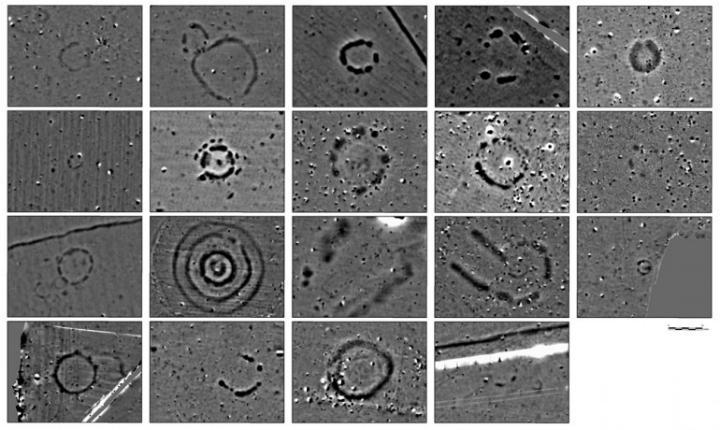 Некоторые из множества структур, найденных на территории Стоунхенджа
