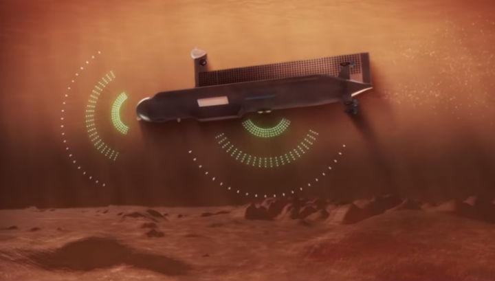 Первое внеземное судно должно обладать высокой степенью автономности. Ориентироваться в глубине ему поможет система гидролокаторов