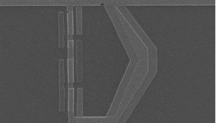 Кубит под электронным микроскопом с увеличением в 16 тысяч раз