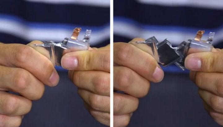 Батарею можно растянуть на 150% без риска потери её функциональности
