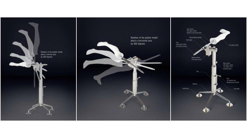 3D-тиски для изготовления индивидуальных пластиковых ортезов