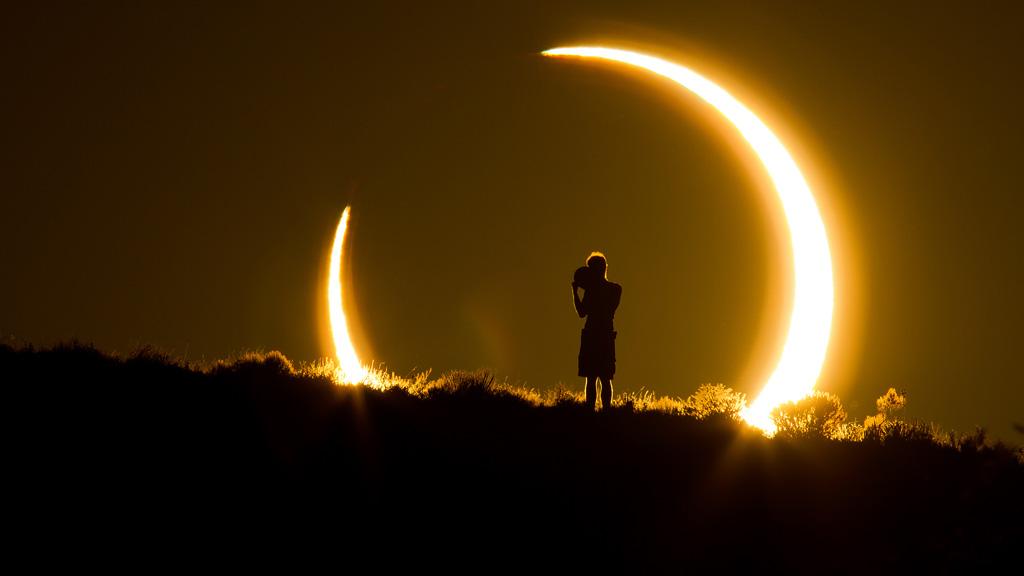 Солнечное затмение в Альбукерке, Нью-Мексико. Фото: Coleen Pinski, Your Shot, National Geographic