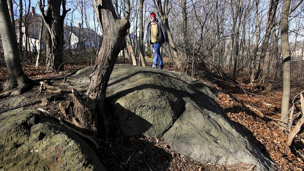 Профессор Эмерсон Бейкер на холме Проктор Ледж, где произошла казнь салемских ведьм. Фото: Ken Yuszkus, AP