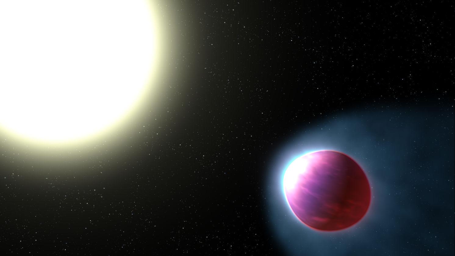 Экзопланета совершает полный оборот вокруг своей родительской звезды каждые 1,3 земных дня.