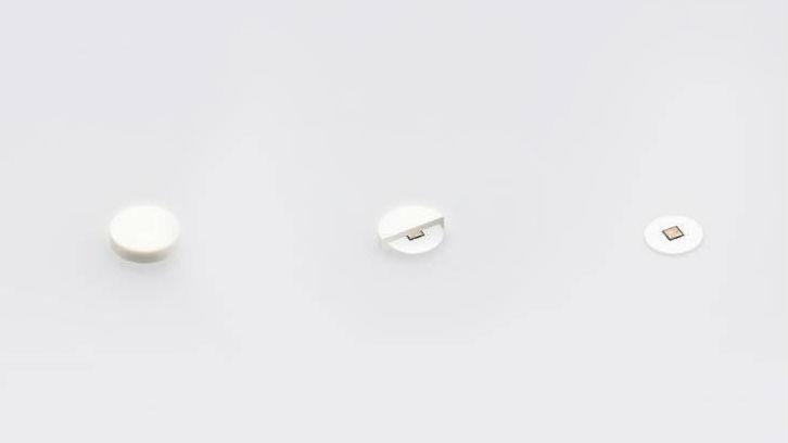 Датчик Abilify MyCite размером с песчинку, он изготовлен из кремния, меди и магния.