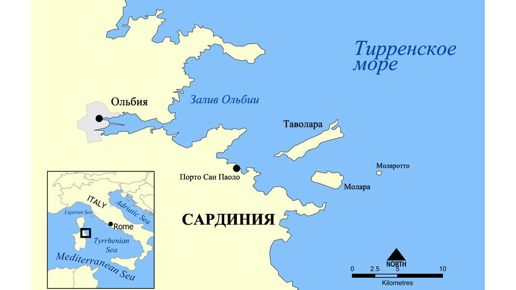 Расположение острова Таволара. Изображение: Wikimedia Commons