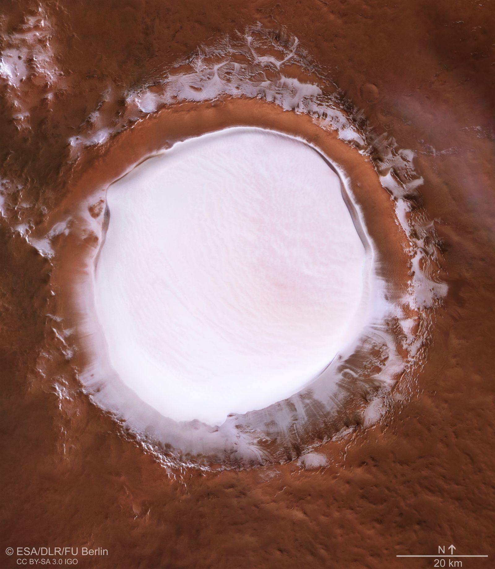 Вид на кратер Королёва сверху.