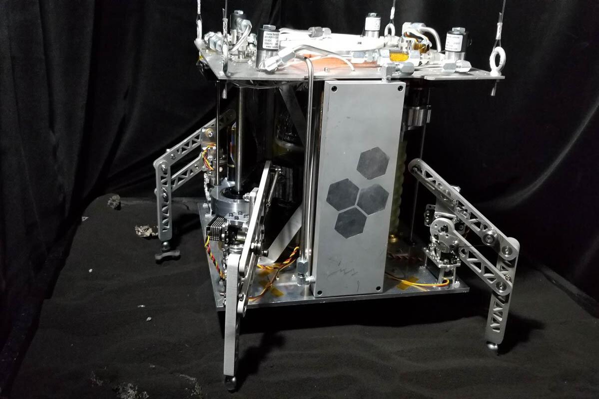 Прототип аппарата успешно добыл воду из грунта, имитирующего астероидный.