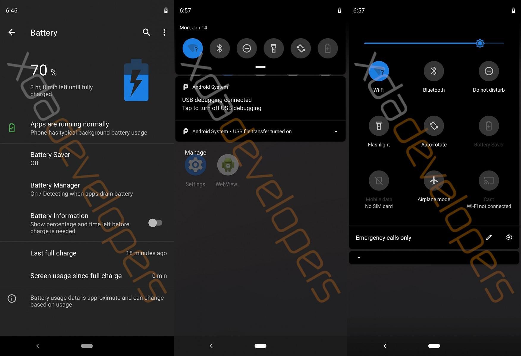 Альфа-версия андроид Q: темная тема, ПК-режим иконфиденциальность