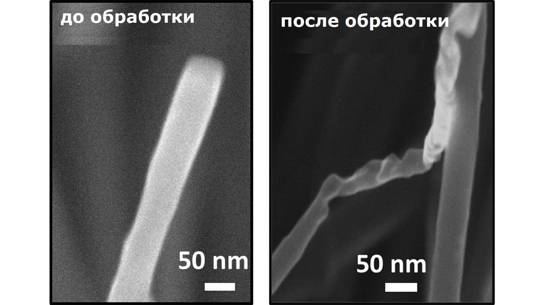 Под действием лазерного импульса углеродное волокно превращается в алмаз.