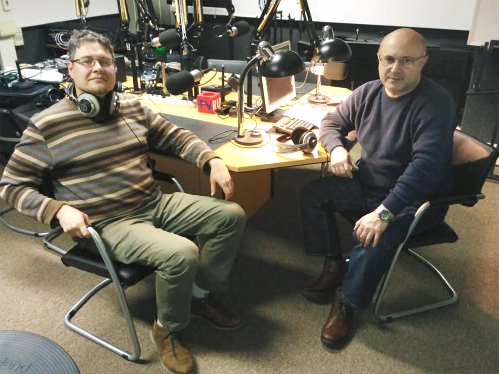 """Николай Мамулашвили и Владимир Севриновский в студии """"Радио России"""""""
