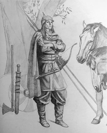 Изображение того, как могла выглядеть женщина-воин.