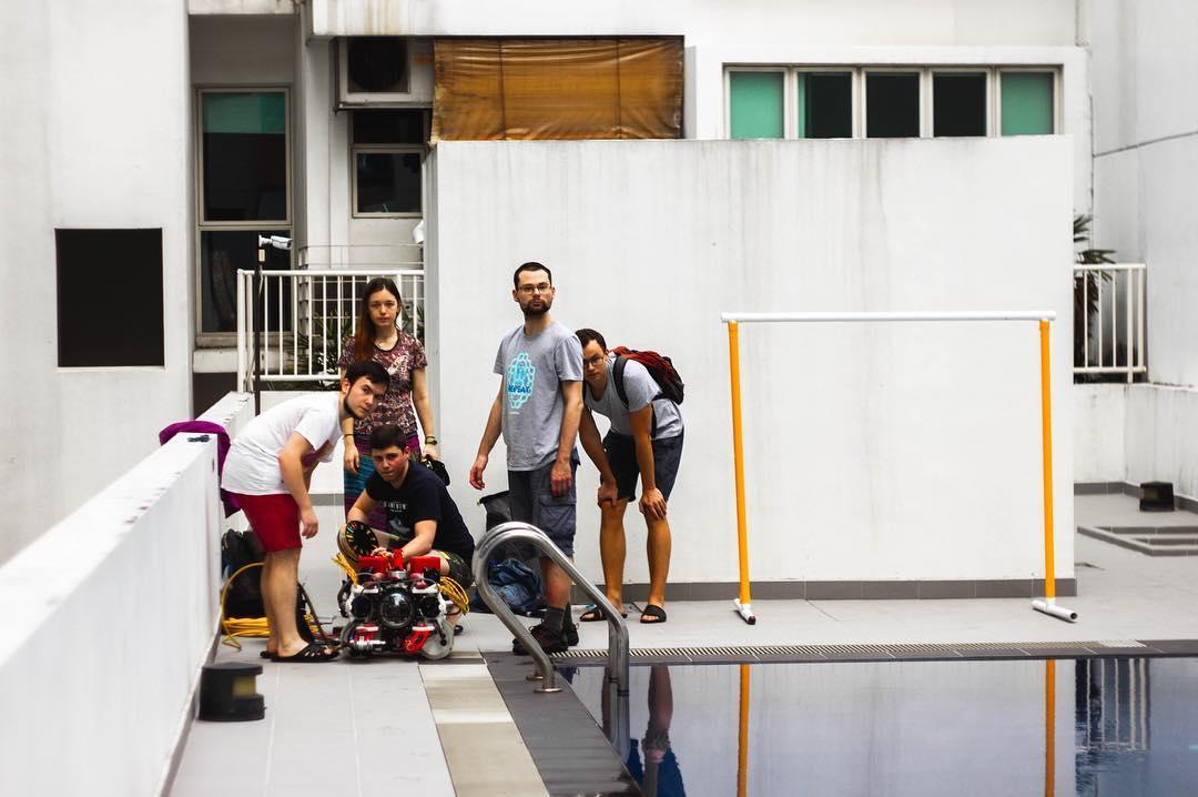 За главный приз боролись 35 команд из разных стран. На фото аппарат Кусто II, сделанный студентами МГТУ им. Н. Э. Баумана.