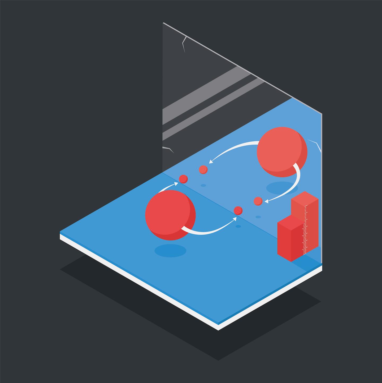 CP-преобразование заменяет частицу на античастицу и систему на её зеркальное отражение.
